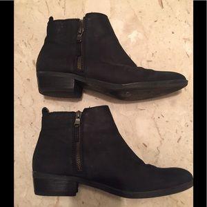 Ralph Lauren black suede booties. Sz 8.5B
